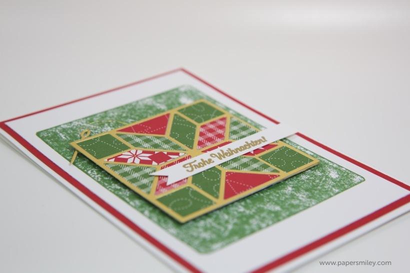 Weihnachtsquilt-Karte mit Stampin Up!