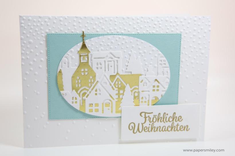 Winterstädtchen-Karte mit Stampin Up!