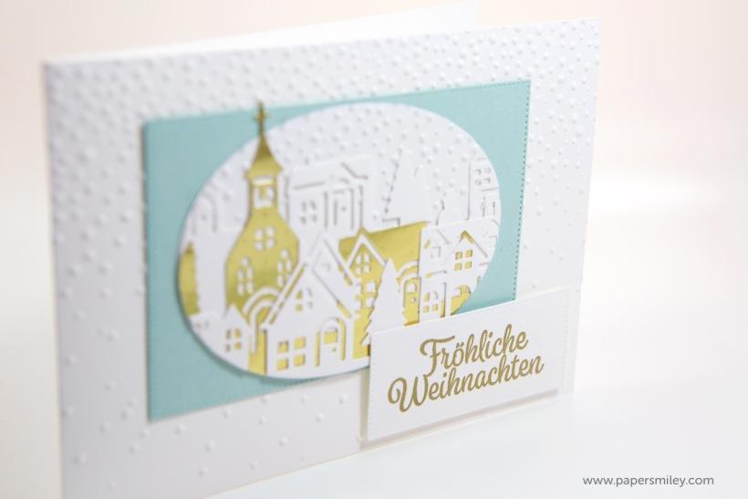 Winterstädchen-Karte mit Stampin Up!
