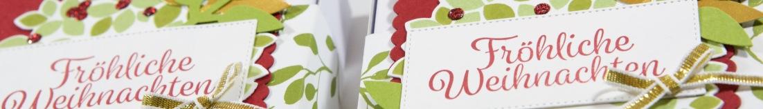 Pizzaboxen mit Willkommen, Weihnacht! von Stampin Up