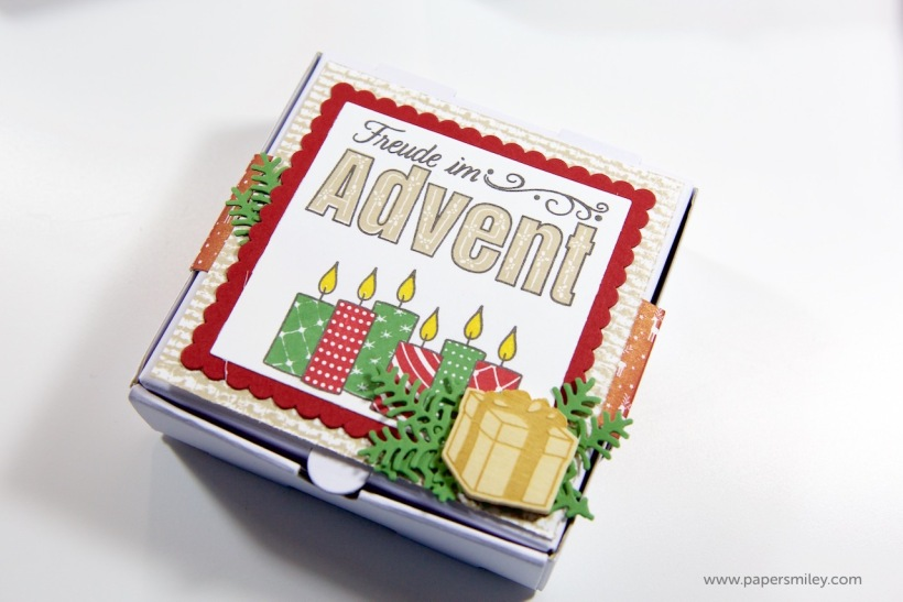 Advent-Mini-Pizzaschachteln mit Stampin Up!