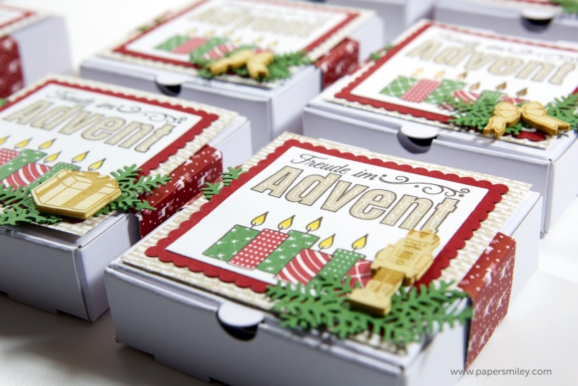 Advent-Mini-Pizzaschachteln mit Stampin Up!