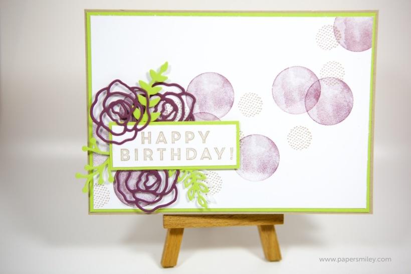 Geburtstagskarte mit Eclectic Expressions von Stampin' Up!