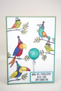 Geburtstagskarte mit Grußgezwitscher von Stampin' Up!