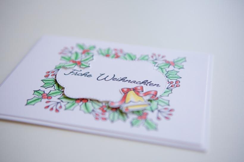 Weihnachtskarte mit Farbenspiel der Jahreszeiten von Stampin' Up!