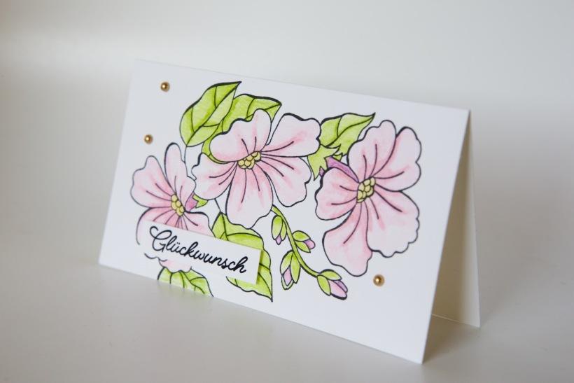 Grußkarte mit Farbenspiel der Jahreszeiten von Stampin' Up!