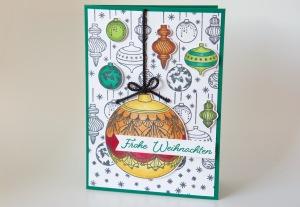 Karte mit Weihnachtskugeln von Stampin' Up!