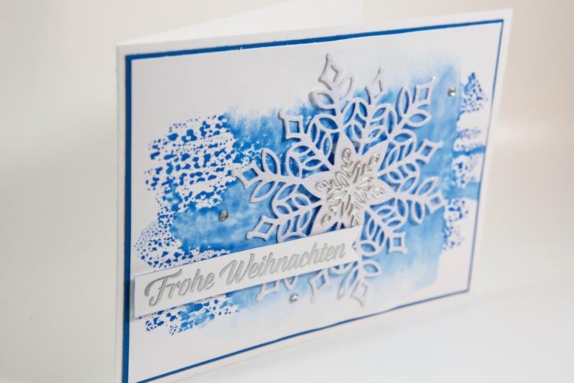 Schneeflockenkarte mit Stampin' Up!