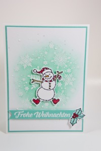 Schneemannkarte mit Stampin' Up!