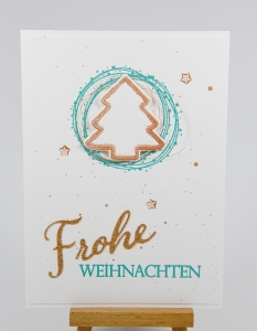 Simple Weihnachtskarte mit Stampin' Up!