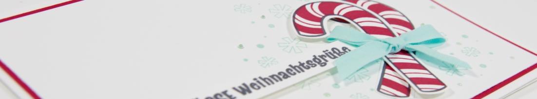 Candy Cane Weihnachtskarte mit Stampin' Up!