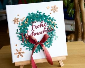 Weihnachtskranz mit Stampin' Up!