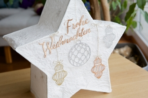 Weihnachtsstern-Lampe mit Stampin' Up!