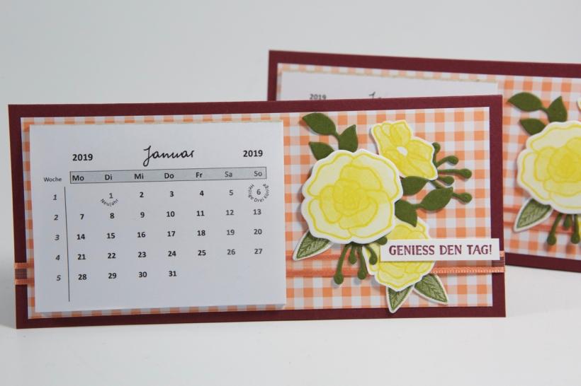 Tischkalender mit Material von Stampin' Up!