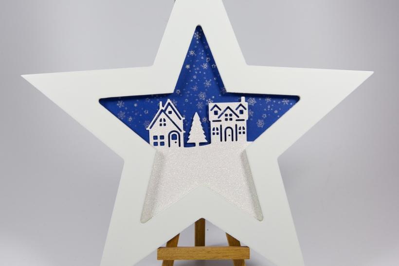 Fensterdeko-Stern mit Material von Stampin' Up!