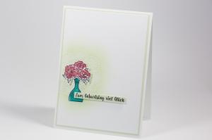 Einfache Geburtstagskarte mit Stampin' Up!