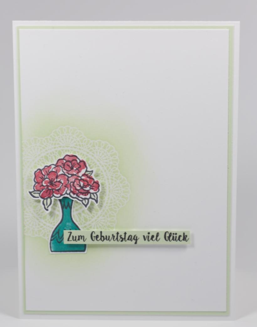 Einfache Geburtstagskarte mit vibrant vases von Stampin' Up!