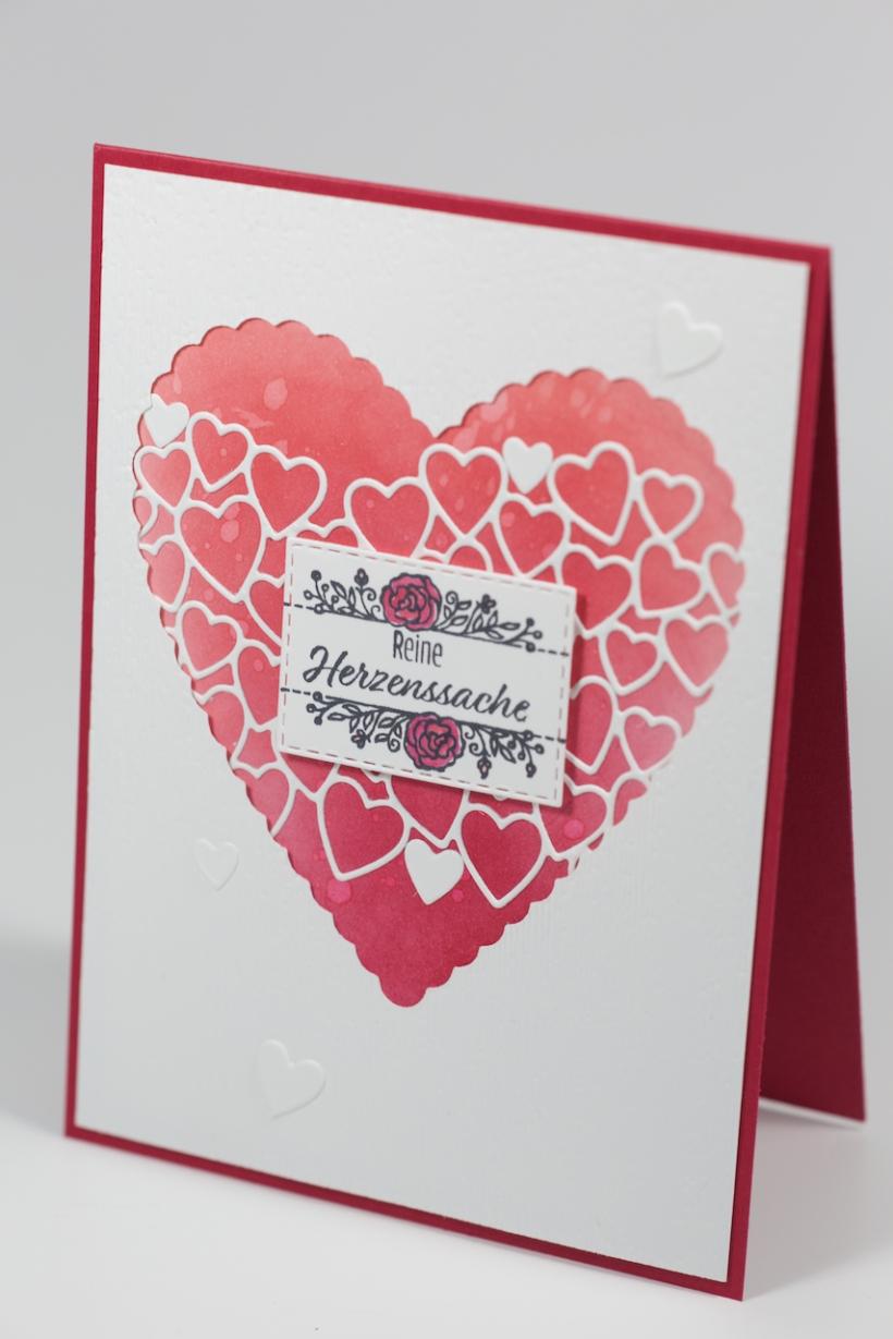 Valentinskarte mit Stampin' Up!