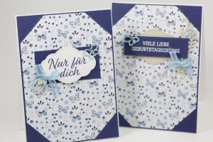 Notizbuch-Grußkarten mit Material von Stampen' Up!