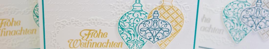 Weihnachtskarten mit Weihnachtskugeln von Stampin' Up!
