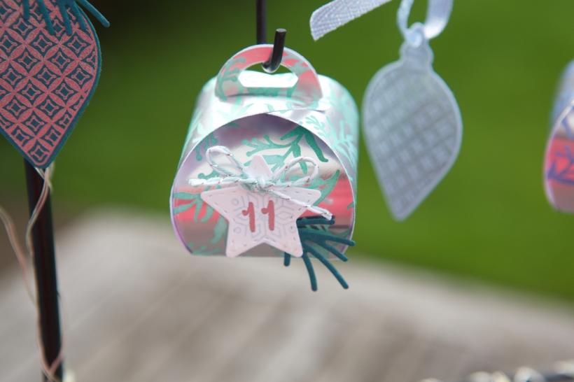 Adventskalender aus Mini-Zierschachteln von Stampin' Up!