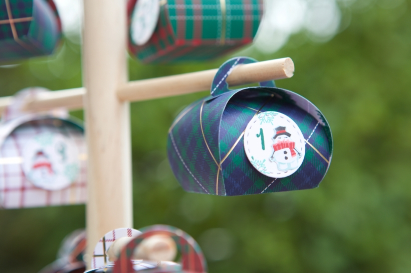 Adventskalender-Baum mit Mini-Zierschachteln von Stampin' Up!