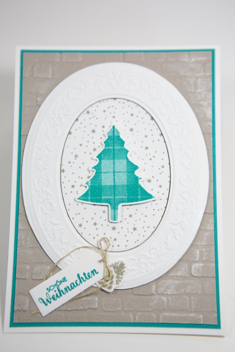 Weihnachtskarte mit Tannenbaum mit Stampin' Up!