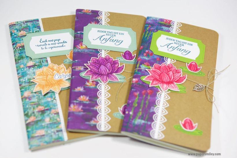 Travellers Notebook-Einlagen mit Seerosen von Stampin' Up!