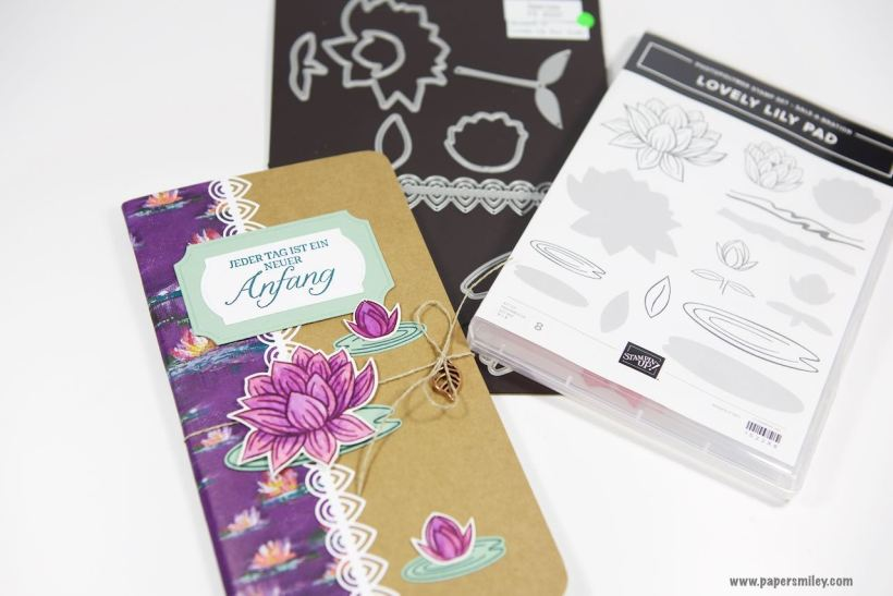 Travellers Notebook-Einlagen mit Seerosen von Stampin' Up!